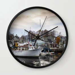 Kennebunkport Habor  Wall Clock