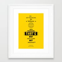 seinfeld Framed Art Prints featuring Seinfeld Posters - The Subway by Marcelo P.