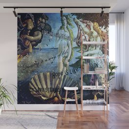 the birth of quotations-sun Wall Mural