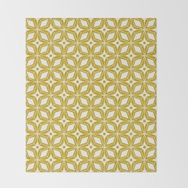 Starburst - Gold Throw Blanket