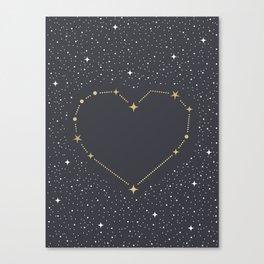 Heart Constellation Canvas Print