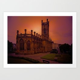 WW2 Bombed out Church Art Print