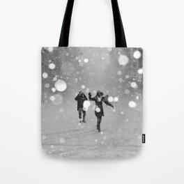 Snow in winter Tote Bag