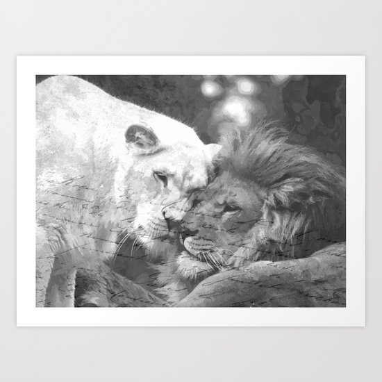 Lion in Love Valentine's Day by alemi
