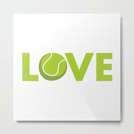 I love tennis Metal Print
