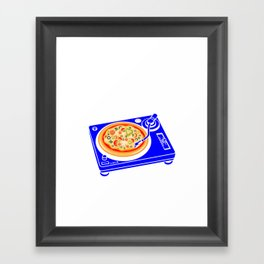 Pizza Scratch Framed Art Print