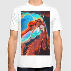Levkí (Abstract 47) White MEDIUM Mens Fitted Tee
