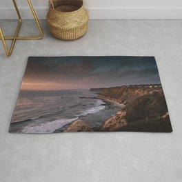 California Coast Sunset Rug
