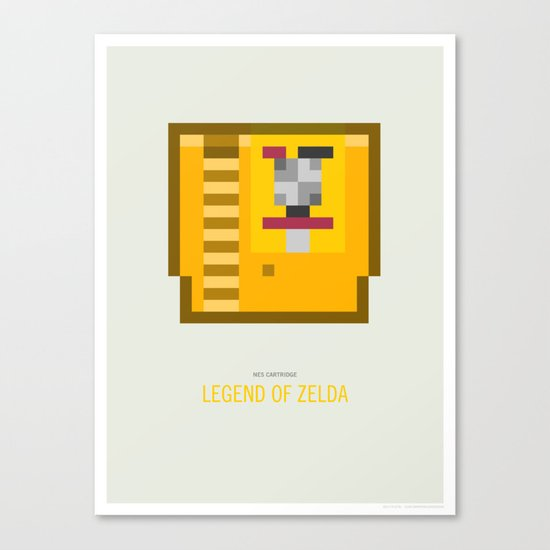 Legend of Zelda Cartridge Canvas Print