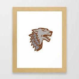 Barking Gray Wolf Icon Framed Art Print