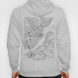 Quebec City Map White Hoody
