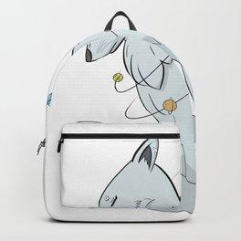 Cosmic Grey Wolf Backpack