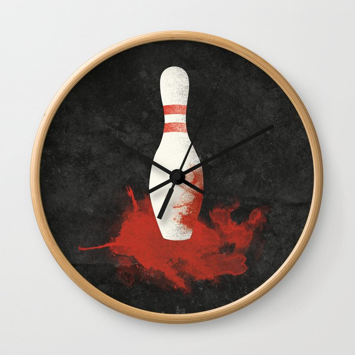There Will Be Blood Movie Poster Bowling Pin Wall Clock