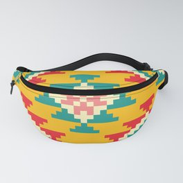 Bold and Vibrant Native Inspired Pattern on Yellow Fanny Pack