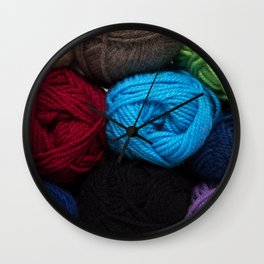 Knitting Bag One Wall Clock