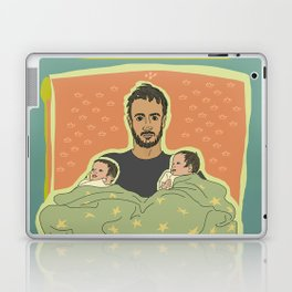 Father with Twins Laptop & iPad Skin