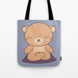 Kawaii Cute Yoga Bear Tote Bag
