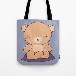Kawaii Cute Yoga Bear Tote Bag