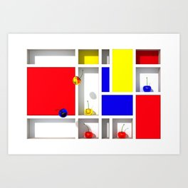 Abstract Glass Cherries 3 by THE-LEMON-WATCH Art Print