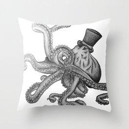 OctoSir Throw Pillow