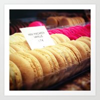 macaron Art Prints featuring Macaron by Emily Werboff