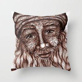 Wisdom Keeper Brown #25 (Universal Love) Throw Pillow
