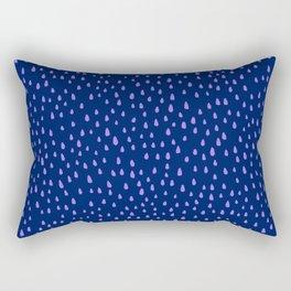 Indigo Paint Drops Rectangular Pillow