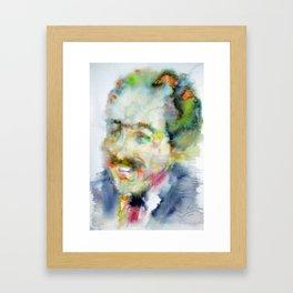LANGSTON HUGHES - watercolor portrait Framed Art Print
