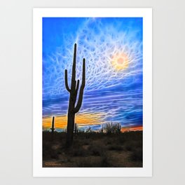 Sun Dogs and Desert Visions IV Art Print