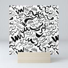 Wavy stripes Mini Art Print