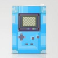 gameboy Stationery Cards featuring Pixel Gameboy by Matt Borchert