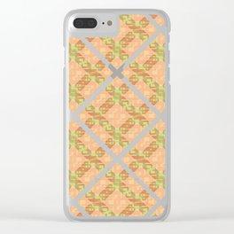 Autumn Diamond Lattice Clear iPhone Case