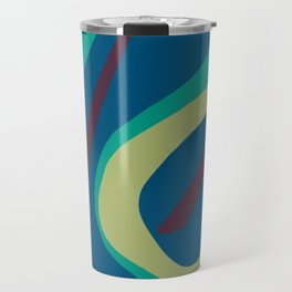 BRIDLE simple abstract design purple lemon emerald azure blue Travel Mug