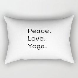 Peace, Love, Yoga, Zen, Inspirational quote Rectangular Pillow
