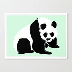 Rough Panda Canvas Print