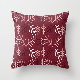 Podplantsred Throw Pillow