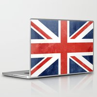 union jack Laptop & iPad Skins featuring Union Jack by Laura Ruth