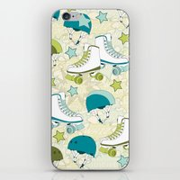 roller derby iPhone & iPod Skins featuring Roller Derby Rumble by Wild Notions