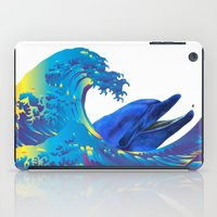 hokusai iPad Cases featuring Hokusai Rainbow & Dolphin by FACTORIE
