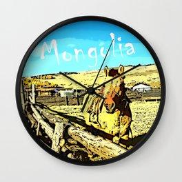 Mongolia Horse Treks (at Mountain Rubia) Wall Clock