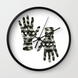 Geometric Triangle Hands Wall Clock