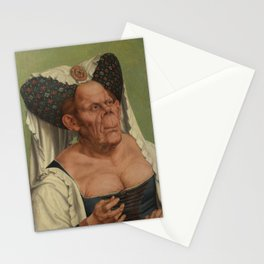A Grotesque old woman by Quentin Matsys Stationery Cards