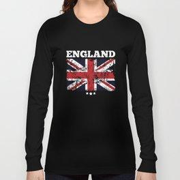 Union Jack Spitfire Airplane England Flag Long Sleeve T-shirt