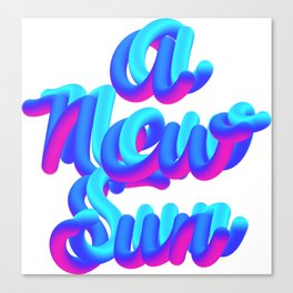 A new sun typography 3d M83 Canvas Print