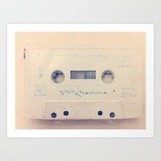 vintage cassette Art Print