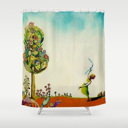 African American Masterpiece 'Tree of Life' by Benny Andrews Shower Curtain
