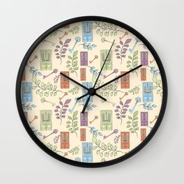 Vintage Doors Wall Clock