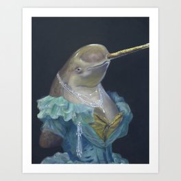 MADAME NARWHAL, by Frank-Joseph Art Print