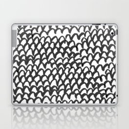 Hand painted monochrome waves pattern Laptop & iPad Skin