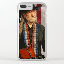Willie Nelson Clear iPhone Case